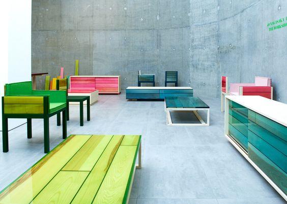 צבעית רהיטים בתנור