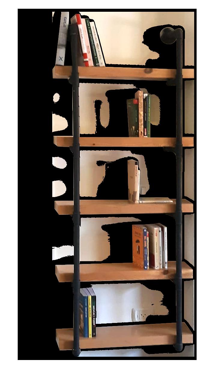 אמה חמישה מדפים מעוצבים מעץ